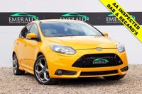 """USED 2014 14 FORD FOCUS 2.0 ST-3 5d 247 BHP **£0 DEPOSIT FINANCE AVAILABLE**SECURE WITH A £99 FULLY REFUNDABLE DEPOSIT** FULL SERVICE HISTORY, FULL RECARO LEATHER UPHOLSTERY, HEATED FRONT SEATS, KEYLESS ENTRY, SONY DAB RADIO, BLUETOOTH PHONE PREP, DUAL CLIMATE CONTROL, AIR CONDITIONING, PRIVACY GLASS, 18"""" ALLOYS, AUX PORT, FULL SERVICE HISTORY"""