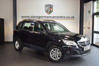 USED 2008 08 VOLKSWAGEN TIGUAN 2.0 S TDI 5DR AUTO 138 BHP + EXCELLENT SERVICE HISTORY + SPORT SEATS + AUXILIARY PORT + AIR CONDITIONING + HEATED MIRRORS + 16 INCH ALLOY WHEELS +
