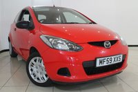 USED 2009 59 MAZDA 2 1.3 TS 3DR 74 BHP AIR CONDITIONING + RADIO/CD + ELECTRIC WINDOWS + ELECTRIC MIRRORS