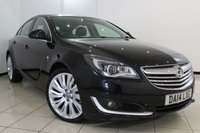 USED 2014 14 VAUXHALL INSIGNIA 2.0 ELITE NAV CDTI 5DR AUTO 160 BHP SERVICE HISTORY + 0% FINANCE AVAILABLE T&C'S APPLY + HEATED LEATHER SEATS + SAT NAVIGATION + CRUISE CONTROL + BLUETOOTH + MULTI FUNCTION WHEEL + DAB RADIO + 18 INCH ALLOY WHEELS