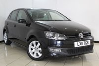USED 2011 11 VOLKSWAGEN POLO 1.2 MODA 5DR 60 BHP AIR CONDITIONING + RADIO/CD + AUXILIARY PORT + ELECTRIC WINDOWS + ELECTRIC/HEATED MIRRORS