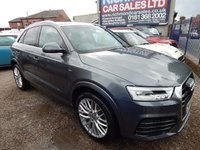 USED 2016 66 AUDI Q3 2.0 TDI QUATTRO S LINE PLUS 5d AUTO 182 BHP SAT NAV , 1 OWNER, FRONT AND REAR PARKING SENSORS, F.S.H