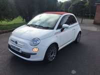 USED 2010 59 FIAT 500C 1.2 C LOUNGE MULTIJET 3d 75 BHP CONVERTIBLE FIAT 500C CONVERTIBLE IN WHITE WITH 50000 MILES AND FSH