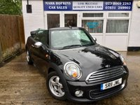 USED 2011 11 MINI CONVERTIBLE 1.6 ONE 2d 98 BHP 51K FSH  ONE LOCAL FAMILY OWNER   HIGH SPEC EXCELLENT CONDITION