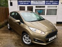 USED 2014 14 FORD FIESTA 1.2 ZETEC 5d 81 BHP 24K FSH  TWO OWNERS  STUNNING BROWN METALLIC  EXCELLENT CONDITION