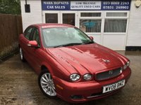 USED 2008 08 JAGUAR X-TYPE 2.2 S 4d 152 BHP 26K FSH  ONE OWNER  STUNNING RED METALLIC WITH CREAM 1/2 LEATHER UPHOLSTERY