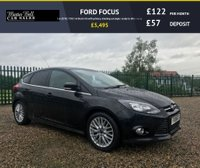 USED 2011 11 FORD FOCUS 1.6 ZETEC TDCI 5d black fsh with privacy stunning example ready to drive away