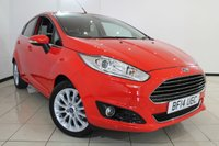 USED 2014 14 FORD FIESTA 1.0 TITANIUM X 5DR 99 BHP HEATED HALF LEATHER SEATS + AIR CONDITIONING + BLUETOOTH + CRUISE CONTROL + MULTI FUNCTION WHEEL + 16 INCH ALLOY WHEELS