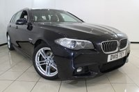 USED 2015 15 BMW 5 SERIES 2.0 520D M SPORT TOURING 5DR AUTOMATIC 188 BHP HEATED LEATHER SEATS + SAT NAVIGATION + PARKING SENSOR + BLUETOOTH + CRUISE CONTROL + MULTI FUNCTION WHEEL + 18 INCH ALLOY WHEELS