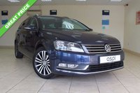USED 2011 11 VOLKSWAGEN PASSAT 2.0 SPORT TDI BLUEMOTION TECHNOLOGY 5d AUTO 139 BHP ESTATE SATELLITE NAVIGATION, VEHICLE HAS HAD CAMBELT, WATER PUMP & TENSIONER DONE @55,969 MILES, REAR PARKING SENSORS, DSG, STUNNING ROOMY ESTATE CAR