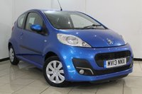 USED 2013 13 PEUGEOT 107 1.0 ACTIVE 3DR 68 BHP AIR CONDITIONING + RADIO/CD + ELECTRIC WINDOWS + TRIP COMPUTER + CLOTH UPHOLSTERY