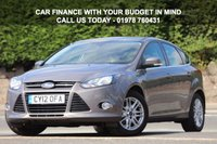 USED 2012 12 FORD FOCUS 1.0 TITANIUM 5d 124 BHP No advisories, great condition