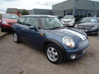 USED 2010 60 MINI HATCH COOPER 1.6 COOPER 3d 122 BHP MOT MARCH 18 5 SERVICE STAMPS @ 5 DEALERSHIP SERVICE STAMPS @ 17592MLS, 29694MLS, 34578MLS 43560MLS & 52226MLS 3 FORMER KEEPERS With contrasting trim, Air Conditioning, Six Speed Gearbox, Mini Boost CD, Electric Windows, Two spoke Leather and Aluminium Steering Wheel, Cup Holders, Auto Start Stop, Piano Wood to dashboard and door inserts, Rear child safety Iso-fix, Five Blade Alloys, Chrome Grill, Chrome Tail Pipe.