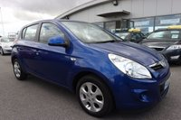 USED 2011 61 HYUNDAI I20 1.2 COMFORT 5d 77 BHP LOW DEPOSIT OR NO DEPOSIT FINANCE AVAILABLE.
