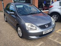 USED 2004 04 HONDA CIVIC 1.7 SE I-CTDI 5d 100 BHP DIESEL IN MET GREY TRADE CLEARANCE APPROVED CARS ARE PLEASED TO OFFER THIS HONDA CIVIC 1.7 SE I-CTDI 5 DOOR 100 BHP DIESEL IN MET GREY WITH A LONG MOT UNTIL 29/01/18 IN ABOVE AVERAGE CONDITION BUT DUE TO ITS AGE AND MILEAGE IS BEING OFFERED AS A TRADE CLEARANCE CAR.