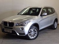 USED 2011 60 BMW X3 2.0 XDRIVE20D SE 5d AUTO 181 BHP 4WD SAT NAV LEATHER  4WD. STUNNING SILVER MET WITH FULL BLACK LEATHER TRIM. CRUISE CONTROL. 17 INCH ALLOYS. COLOUR CODED TRIMS. PARKING SENSORS. BLUETOOTH PREP. CLIMATE CONTROL. TRIP COMPUTER. R/CD PLAYER. MFSW. MOT 02/18. ONE PREV OWNER. SERVICE HISTORY. FCA FINANCE APPROVED DEALER. TEL 01937 849492.