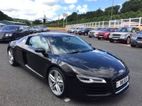 USED 2015 15 AUDI R8 4.2 V8 QUATTRO Manual 424 BHP Panther Black metallic., Only 11,000 miles just Audi serviced