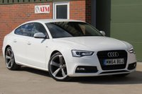 USED 2014 64 AUDI A5 2.0 SPORTBACK TDI S LINE BLACK EDITION S/S 5d 175 BHP SAT NAV, REVERSING CAMERA, LEATHER, B+O SOUND SYSTEM, FINANCE AVAILABLE