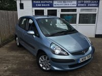 USED 2006 06 HONDA JAZZ 1.3 DSI SE 5d 82 BHP .    EXTREMELY LOW MILEAGE 18K FSH.  TWO OWNERS EXCELLENT CONDITION
