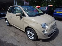 USED 2014 14 FIAT 500 1.2 CONVERTIBLE LOUNGE 3d 69 BHP Low Mileage, One Lady Owner from new, Just Serviced by ourselves, MOT until July 2018, Great on fuel! Only £30 Road Tax!