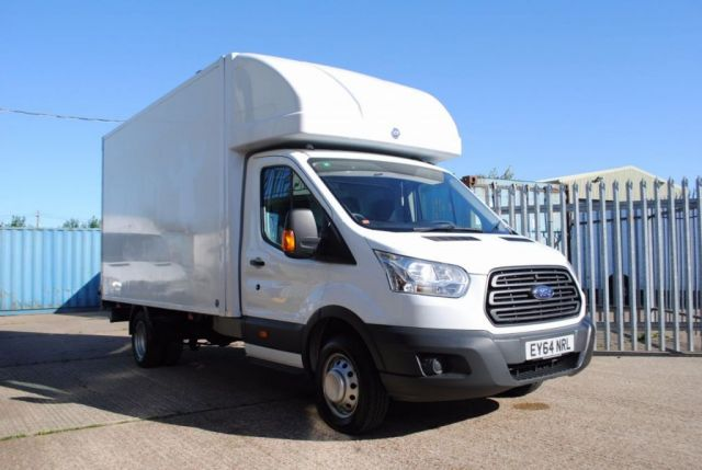 2014 64 FORD TRANSIT LUTON WITH TAIL LIFT, T350, 124 BHP, EURO 5