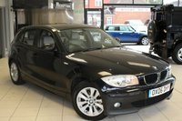 USED 2006 06 BMW 1 SERIES 2.0 118I SE 5d AUTO 128 BHP BLACK SAPPHIRE METALLIC WITH FULL LEATHER SEATS + AIR CONDITIONING + 16 INCH ALLOYS + ELECTRIC WINDOWS + ELECTRIC MIRRORS