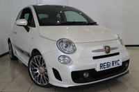 USED 2011 61 ABARTH 500 1.4 ABARTH 3DR 135 BHP ABARTH SERVCE HISTORY + LEATHER SEATS + AIR CONDITIONING + BLUETOOTH + MULTI FUNCTION WHEEL + AUXILIARY PORT + RADIO/CD + 16 INCH ALLOY WHEELS