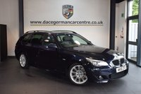 USED 2010 10 BMW 5 SERIES 2.0 520D M SPORT BUSINESS EDITION TOURING 5DR 175 BHP + FULL BLACK LEATHER INTERIOR + FULL SERVICE HISTORY + PRO SATELLITE NAVIGATION + BLUETOOTH + HEATED SPORT SEATS + CRUISE CONTROL + PARKING SENSORS + 18 INCH ALLOY WHEELS +