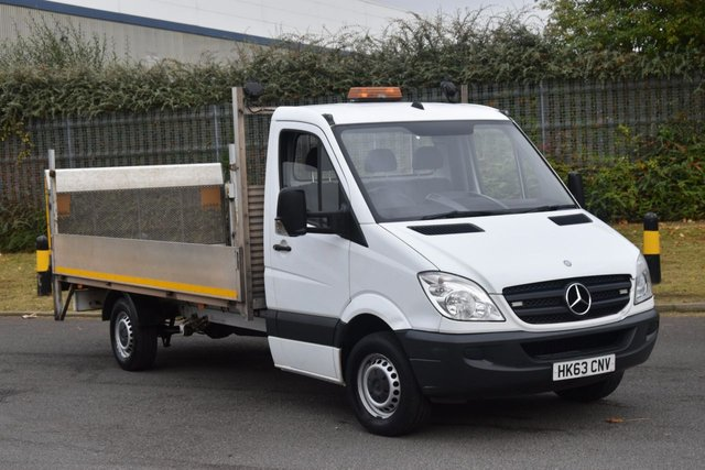2013 63 MERCEDES-BENZ SPRINTER 2.1 313 CDI LWB 2d 129 BHP RWD DIESEL MANUAL DROPSIDE LORRY  ONE OWNER FULL S/H 14 FOOTER BED LENGTH