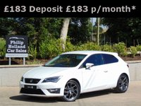 USED 2013 SEAT LEON 2.0 TDI FR TECHNOLOGY 3d 150 BHP MASSIVE SPEC, TECHNOLOGY PACK, HALF LEATHER, BLUETOOTH, CRUISE CONTROL, DAB RADIO