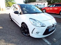 USED 2015 64 CITROEN DS3 1.6 E-HDI DSTYLE PLUS 3d 90 BHP ZERO Rate Road Tax. Bluetooth