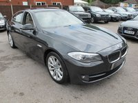 2010 BMW 5 SERIES 3.0 530D NAV + LEATHER + MANUAL 6SPEED 4d 242 BHP + L MILES  £12499.00