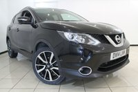 USED 2014 14 NISSAN QASHQAI 1.2 TEKNA DIG-T 5DR 113 BHP FULL NISSAN SERVICE HISTORY + HEATED LEATHER SEATS + SAT NAVIGATION + PANORAMIC ROOF + REVERSE CAMERA + BLUETOOTH + CRUISE CONTROL + 19 INCH ALLOY WHEELS