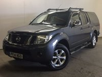 USED 2014 14 NISSAN NAVARA 2.5 DCI TEKNA 4X4 SHR DCB 1d AUTO 188 BHP SNUGTOP SAT NAV LEATHER ONE OWNER FSH COMMERCIAL (£12400+2480VAT). 4WD. HARD TOP CANOPY. SATELLITE NAVIGATION. STUNNING GREY WITH FULL BLACK LEATHER TRIM. ELECTRIC HEATED SEATS, CRUISE CONTROL. AIR CON. SIDE STEPS. 17 INCH ALLOYS. COLOUR CODED TRIMS. PRIVACY GLASS. REVERSING CAMERA. BLUETOOTH PREP. PAS. EW. MFSW. TOWBAR. MOT 07/18. ONE OWNER FROM NEW. FULL SERVICE HISTORY. FCA FINANCE APPROVED DEALER. TEL 01937 849492