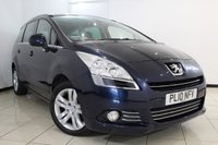 USED 2010 10 PEUGEOT 5008 2.0 HDI EXCLUSIVE 5DR 150 BHP SERVICE HISTORY + CLIMATE CONTROL + 7 SEATS + PARKING SENSOR + BLUETOOTH + PANORAMIC ROOF + CRUISE CONTROL + 17 INCH ALLOY WHEELS