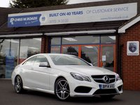 USED 2014 14 MERCEDES-BENZ E CLASS 2.0 E200 AMG SPORT 2dr AUTO 184 BHP * Command & 8,500Miles * *ONLY 9.9% APR with FREE Servicing*