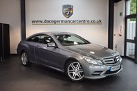 USED 2013 13 MERCEDES-BENZ E CLASS 2.1 E250 CDI BLUEEFFICIENCY S/S SPORT 2DR AUTO 204 BHP + FULL BLACK LEATHER INTERIOR + FULL MERC SERVICE HISTORY + BLUETOOTH + HEATED SPORT SEATS + CRUISE CONTROL + PARKING SENSORS + 18 INCH ALLOY WHEELS +