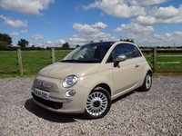 USED 2014 14 FIAT 500 1.2 LOUNGE DUALOGIC 3Dr AUTO (START/STOP) ONLY 2 OWNERS FROM NEW + FULL SERVICE HISTORY
