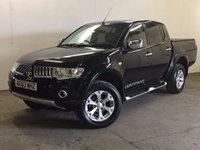 USED 2013 63 MITSUBISHI L200 2.5 DI-D 4X4 WARRIOR LB DCB 1d AUTO 175 BHP LEATHER SIDE STEPS PRIVACY FSH COMMERCIAL (£11600+2320VAT). RARE AUTO 4WD. STUNNING BLACK MET WITH FULL BLACK LEATHER TRIM. SIDE STEPS. CRUISE CONTROL. AIR CON. 17 INCH ALLOYS. COLOUR CODED TRIMS. PRIVACY GLASS. PAS. EW. MFSW. MOT 08/18. FULL SERVICE HISTORY. FCA FINANCE APPROVED DEALER. TEL 01937 849492
