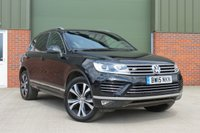 USED 2015 15 VOLKSWAGEN TOUAREG 3.0 V6 R-LINE TDI BLUEMOTION TECHNOLOGY 5d AUTO 259 BHP AUTOMATIC, SAT NAV, PANORAMIC ROOF, FULL VW SERVICE HISTORY