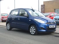 USED 2011 61 HYUNDAI I10 1.2 CLASSIC 5d 85 BHP only 23,884 miles, only £20 12 months tax, parking sensors, air con.