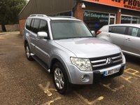USED 2007 07 MITSUBISHI SHOGUN 3.2 GLS ELEGANCE LWB DI-D 5 DOOR  AUTO 160 BHP IN SILVER APPROVED CARS ARE PLEASED TO OFFER THIS  MITSUBISHI SHOGUN 3.2 GLS ELEGANCE LWB DI-D 5 DOOR AUTOMATIC 160 BHP IN METALLIC SILVER WITH A GREAT SPEC INCLUDING SAT NAV,FULL LEATHER INTERIOR,CLIMATE CONTROL,2 KEYS,ALLOY WHEELS,ABS,CD,4X E/WINDOWS,POWER STEERING,C/LOCKING AND A TOW BAR WITH A FULL SERVICE HISTORY SERVICED AT 3K8K,12K,40K AND 76K  A GREAT 4X4 AT SENSIBLE MONEY.