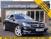 USED 2011 61 MERCEDES-BENZ C CLASS 2.1 C220 CDI BLUEEFFICIENCY AMG SPORT ED125 2d 170 BHP LOW MILES WITH SAT NAV, HEATED LEATHER SEATS, PARKING SENSORS, BLUETOOTH, FSH