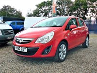 2012 VAUXHALL CORSA 1.2 ACTIVE 5d  £SOLD