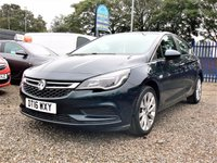 USED 2016 16 VAUXHALL ASTRA 1.6 DESIGN CDTI 5d  + ZERO ROAD TAX, 85.6 mpg QUOTED +