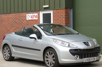 USED 2008 08 PEUGEOT 207 1.6 GT COUPE CABRIOLET 2d 148 BHP HARD TOP CONVERTIBLE, ALLOY WHEELS, AIR CON