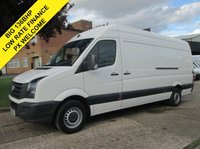 USED 2013 13 VOLKSWAGEN CRAFTER 2.0 TDI CR35 LWB HIGH ROOF 136 BHP. 1 OWNER.  136BHP. 1 OWNER. LOW RATE FINANCE. PX WELCOME