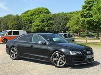 USED 2013 13 AUDI S8 4.0 S8 TFSI QUATTRO 4d AUTO 513 BHP TAILOR MADE FINANCE PACKAGES, X2 KEYS, FULL AUDI SERVICE HISTORY - ALCANTRA HEADLINER - HEATED FRONT AND REAR SEATS  - COMFORT REAR HEADRESTS  - BANG & OLUFSEN SOUND SYSTEM  - DIGITAL TV TUNER  - DAB RADIO  - 4-ZONE CLIMATE CONTROL  - PRIVACY GLASS  - KEYLESS GO  - FULL BLACK LEATHER INTERIOR - CARBON FIBRE INLAYS - NAVIGATION - BUETOOTH HANDSFREE WITH MUSIC STREAM  - JUKEBOX - MDI (USB + IPOD CONNECTION) - REAR PARKING CAMERA WITH GUIDE LINES  FRONT AND REAR PARKING SENSORS