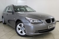 USED 2009 59 BMW 5 SERIES 2.0 520D SE BUSINESS EDITION TOURING 5DR 175 BHP FULL SERVICE HISTORY + LEATHER SEATS + SAT NAVIGATION + PARKING SENSOR + BLUETOOTH + CRUISE CONTROL + MULTI FUNCTION WHEEL + 17 INCH ALLOY WHEELS