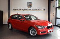 USED 2013 13 BMW 1 SERIES 1.6 116D EFFICIENTDYNAMICS 5DR 114 BHP + FULL SERVICE HISTORY + 1 OWNER FROM NEW + BLUETOOTH + DAB RADIO + RAIN SENSORS + 16 INCH ALLOY WHEELS +